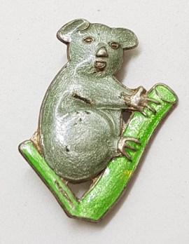Sterling Silver & Enamel Antique / Vintage Koala Brooch - Two Available