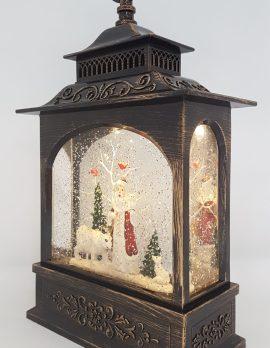 Christmas Glitter Snowglobe Lantern - Santa with a Polar Bear - Christmas Ornament #4