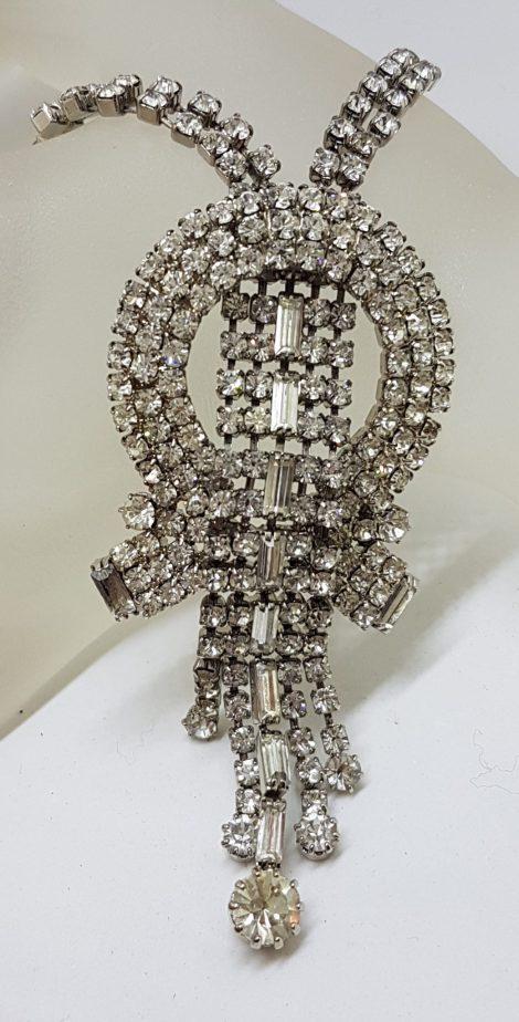 Vintage Rhinestone Costume Jewellery Necklace