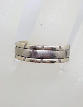 9ct White Gold With Titanium Wedding Ring - Gents / Ladies