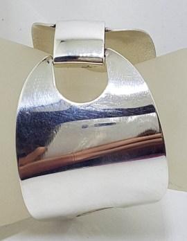 Sterling Silver Large Wide Vintage Bangle / Bracelet