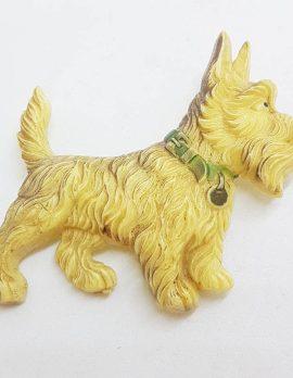 Large Scottish Terrier Dog Brooch - Vintage Costume Jewellery - Scottie Dog