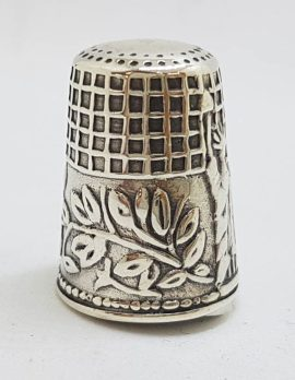Sterling Silver Statue of Liberty Design Thimble - Antique / Vintage