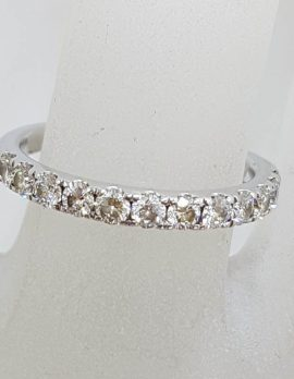 18ct White Gold Diamond Eternity Ring / Wedding Band / Dress Ring