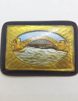 Sydney Harbour Bridge Large Rectangular Antique Brooch - Antique / Vintage