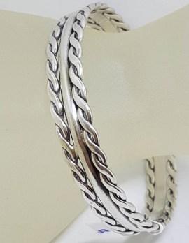 Sterling Silver DaneCraft - Bangle Twist with Plain Design