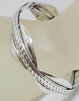 Sterling Silver DaneCraft - Bangle Marquis Shape Design