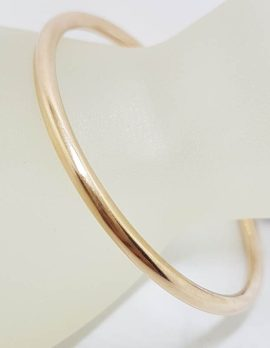 9ct Rose Gold Oval Tubular Golf Bangle