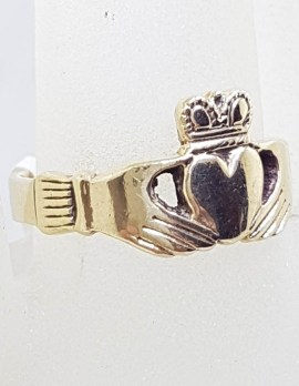 9ct Yellow Gold Claddagh Ring - Vintage