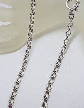Sterling Silver Belcher Link Necklace / Chain with Bolt Ring Clasp