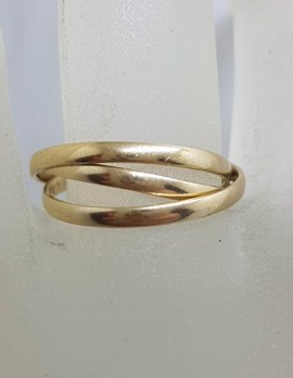 9ct Yellow Gold Russian Wedding Ring - Cartier Style Ring
