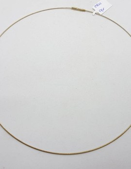 9ct Yellow Gold Fine Omega Choker Necklace / Chain
