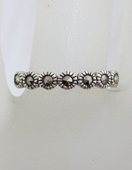 Sterling Silver Marcasite Band Ring