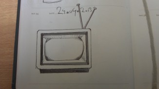Haven't doodled in a while so here's two for the price of one. A retro tv.
