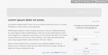 A simple one-column theme with attractive, relaxing features. Live Preview.