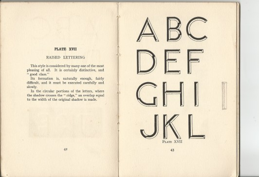 modern lettering page