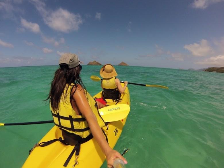 kayak in lanikai