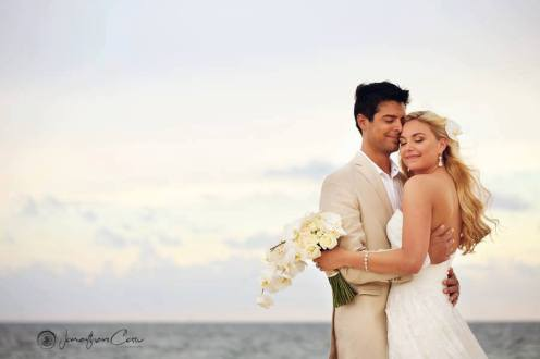 Beautiful couple in Dreams Riviera Cancun