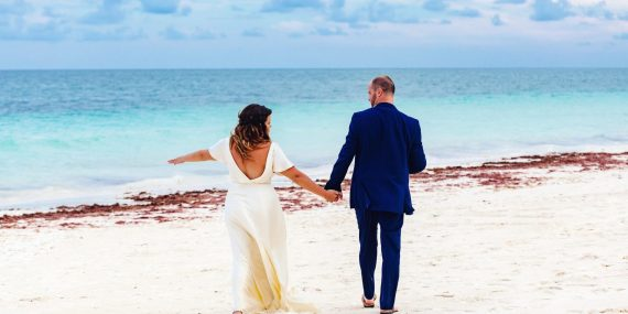 Rachel and Neil's elopement in tulum
