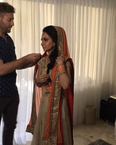 Final touches for Indian Bride in Paradisus, Playa del Carmen