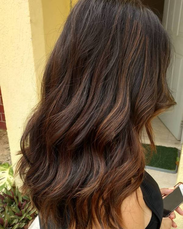 Hair coloring balayage