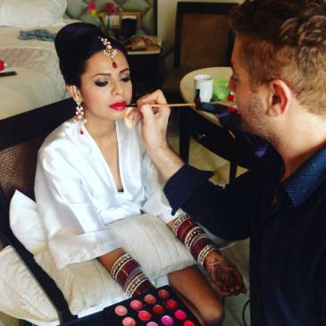 Alex does an Indian Bride make up in Moon Palace, CAncun, Mexico