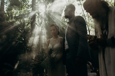 Fiona and Hilton in tulum elopement ceremony, Riviera Maya, Mexico
