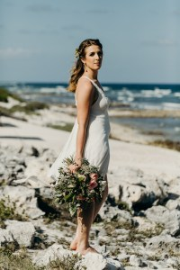 Kaitlin before elopement photo session in Tulum, Mexico