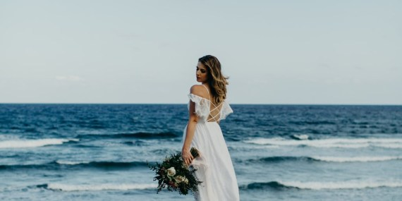 Kaitlin on her elopement photo session in Tulum,riviera maya,mexico