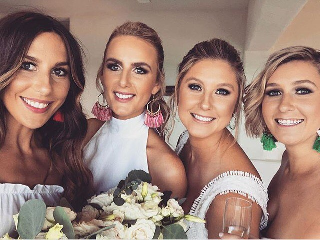 make up for Richelle wedding in Tulum, bridesmaids and sister selfie, chiringuito tulum, riviera maya