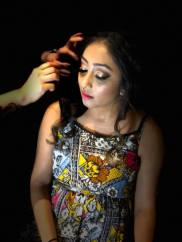 megha' make up and hair trial in grand palladium costa mujeres,cancun,mexico