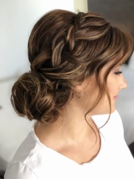 updo for bride in cancun