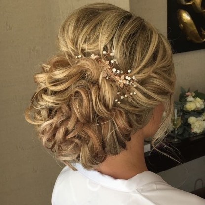 bridal updo in moon palace
