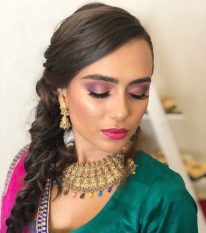 makeup for model in a photoshoot