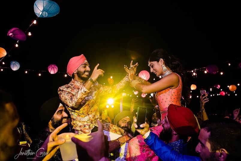 sangeet celebration for indian couple in grand palladium costa mujeres