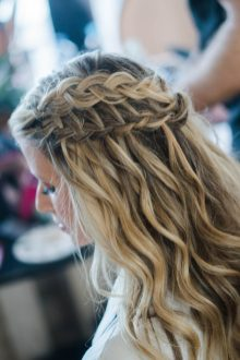bridal braided half updo hairtstyle
