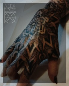 alex edge tattoos, hand tattoo, hand mandala, dot work hand tattoo, alex edge, Mandala tattoo, dotwork tattoo, dotwork , Alex Edge, alexedgetattoos