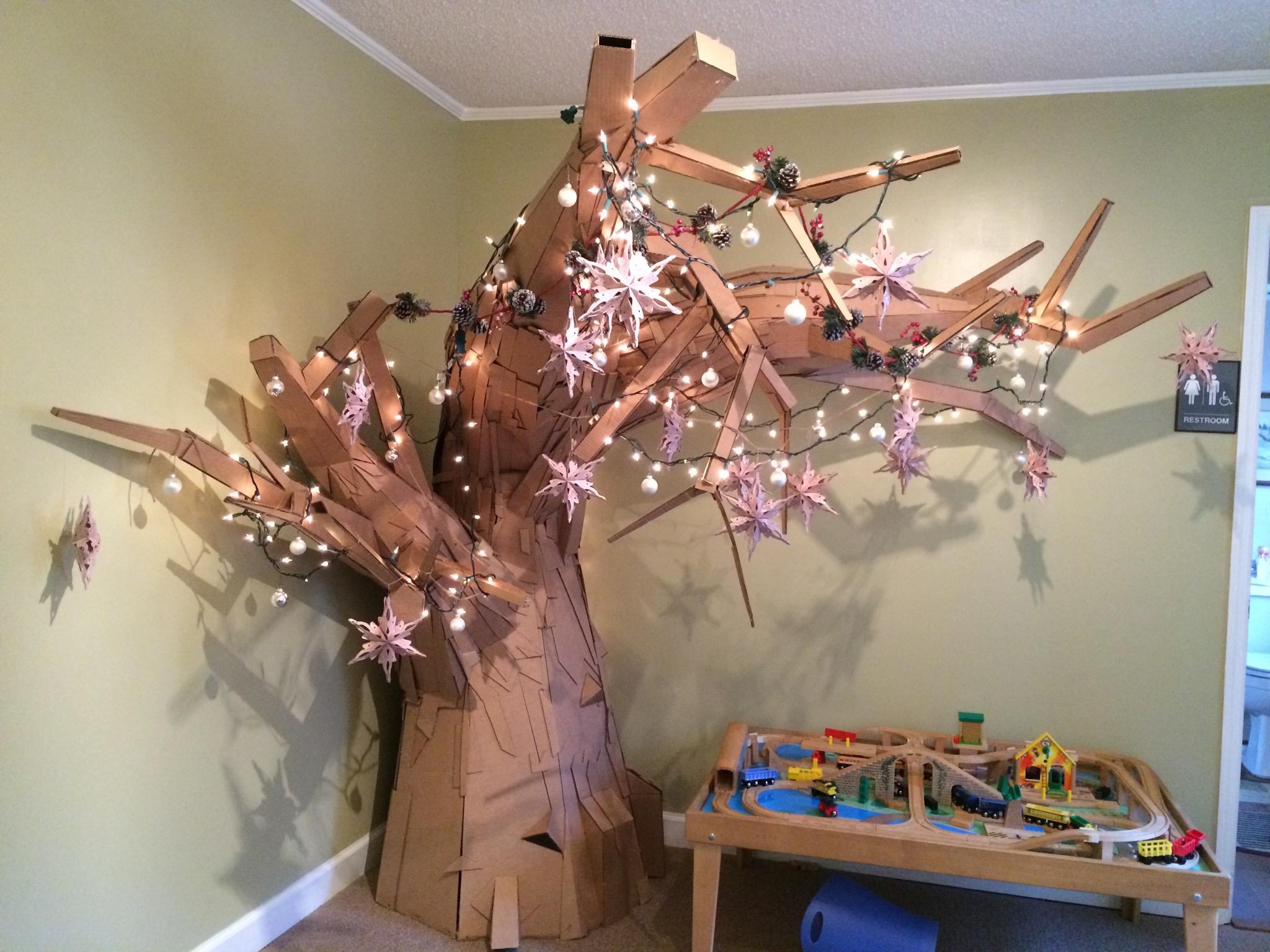 Big Cardboard Tree!