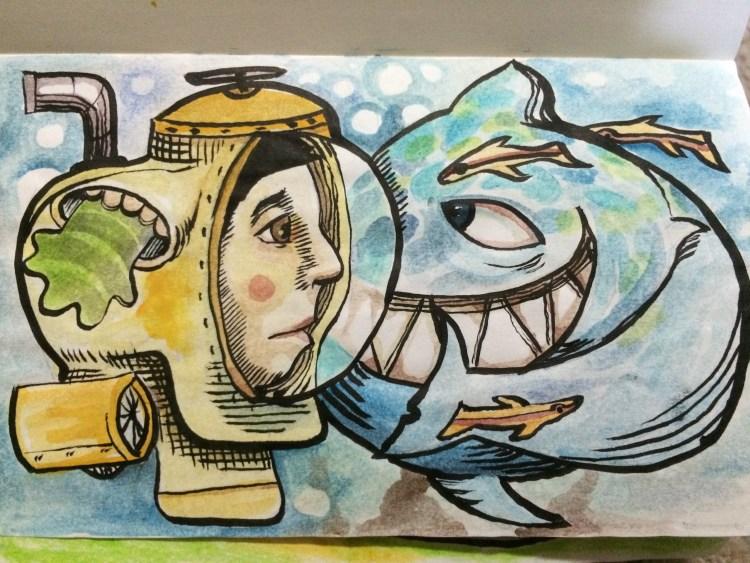 watercolored graffitti letters