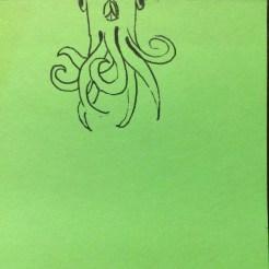 Squid floating