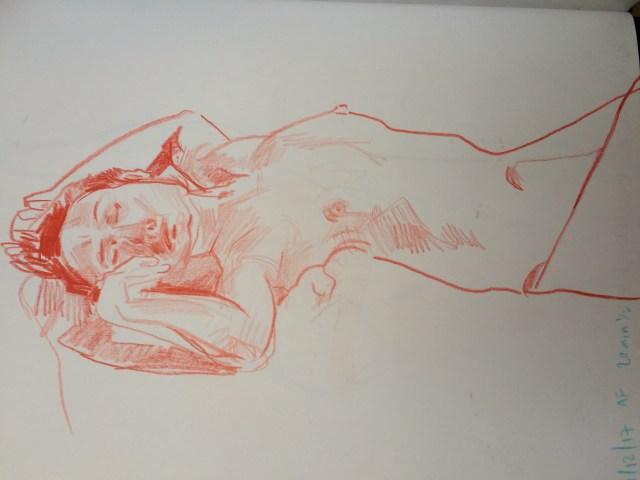 figure drawing sketchbook page