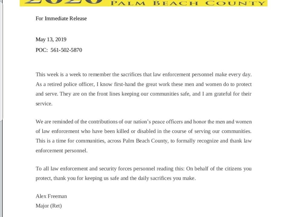 press release law enforce