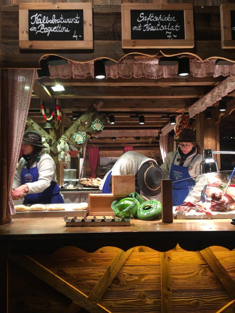 Traditional German food at one of Hamburgs Christmas Markets