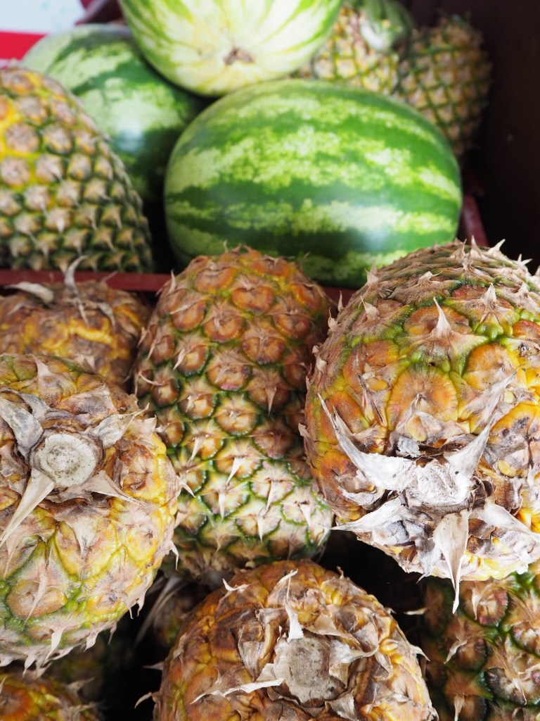 pineapples and melons in Costa Rica