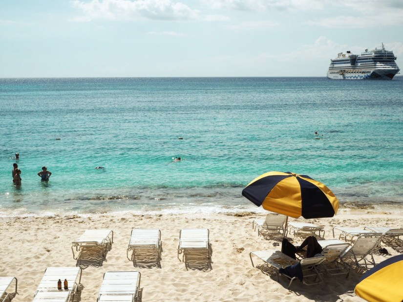 A cruise ship near Isla Catalina in Dominican Republic