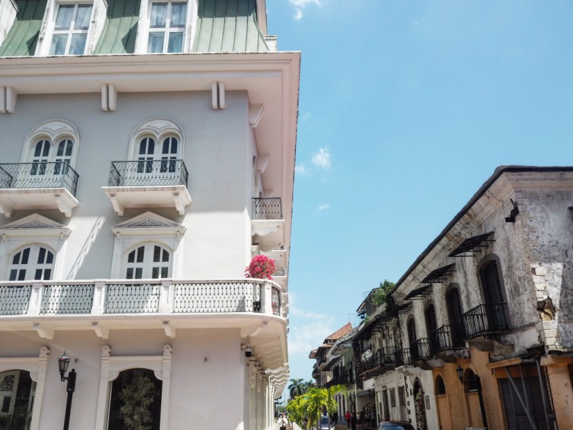 old vs new in Casco Viejo Panama