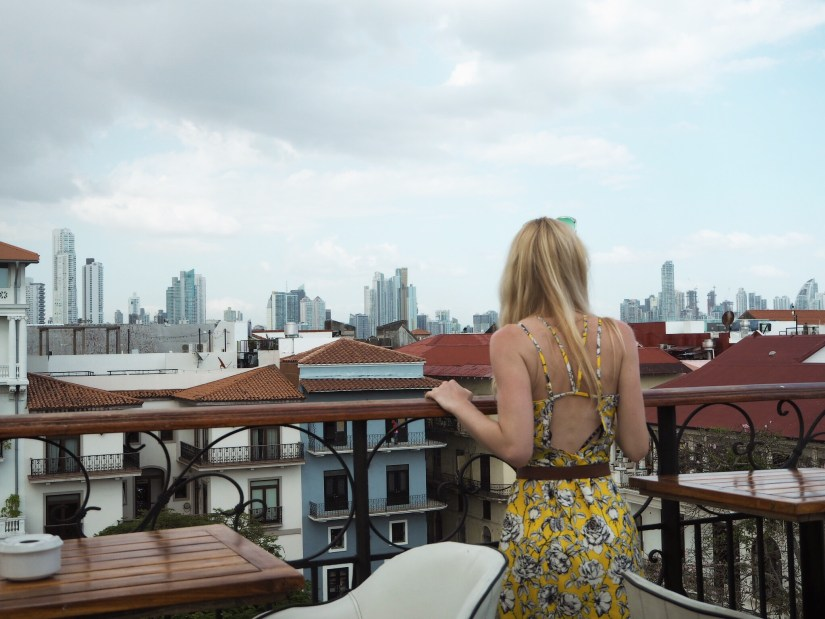 a rooftop bar in Panama
