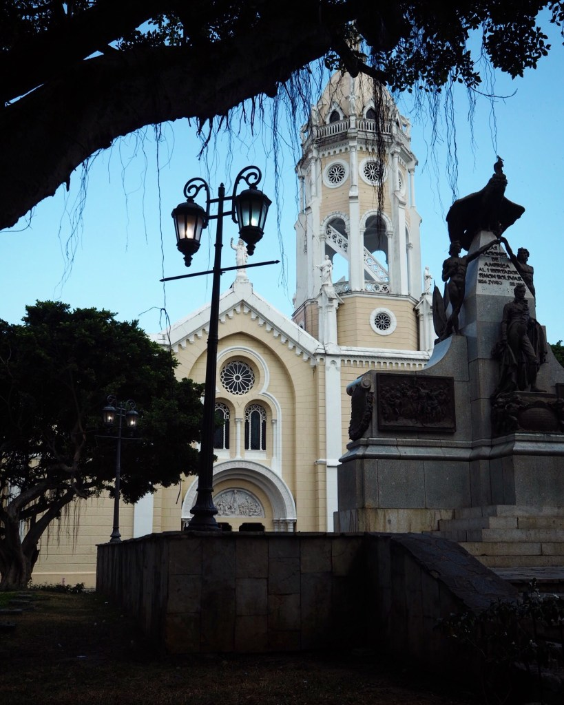 a colonial church in Casco Viejo, Panama City