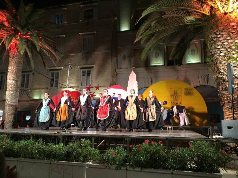 Croatian folk dancers at the Split Summer festival