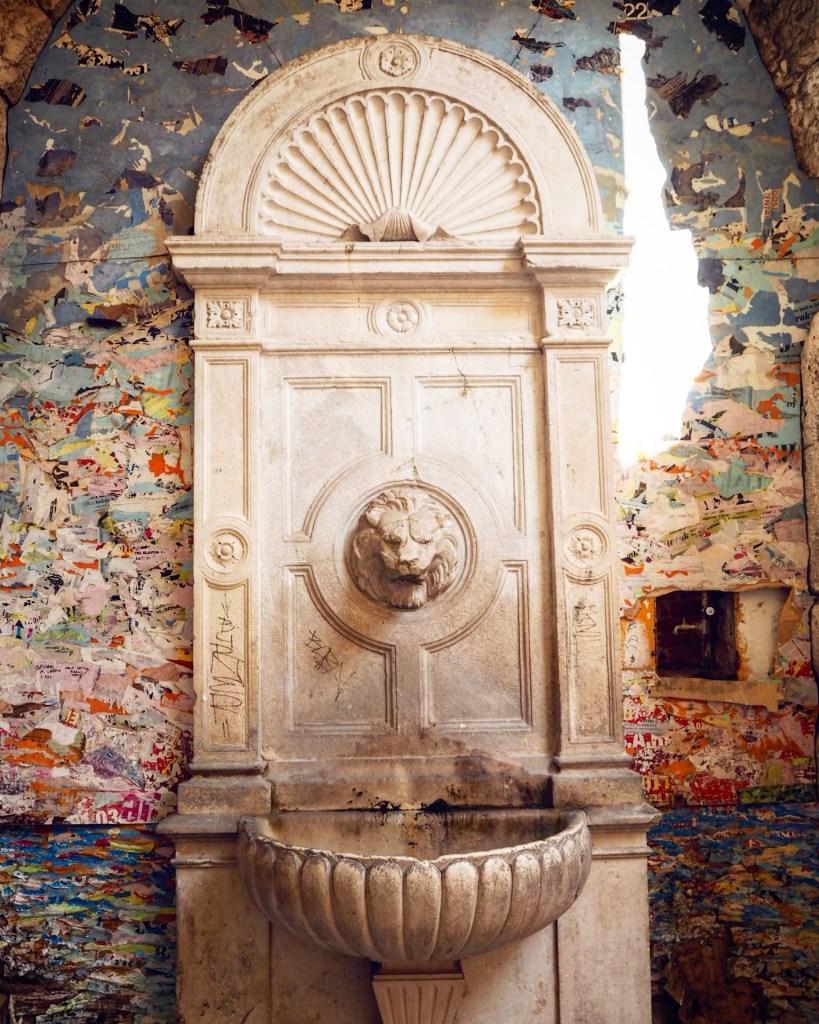 a water fountain in Split, Croatia
